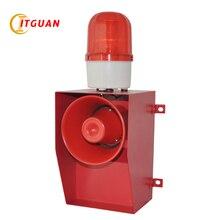 TGSG-06A DC/AC24V-380V LED Warning Lamp 130dB Strobe Light with Siren Audible Visual Alarm Industrial Crane Emergency  Beacon