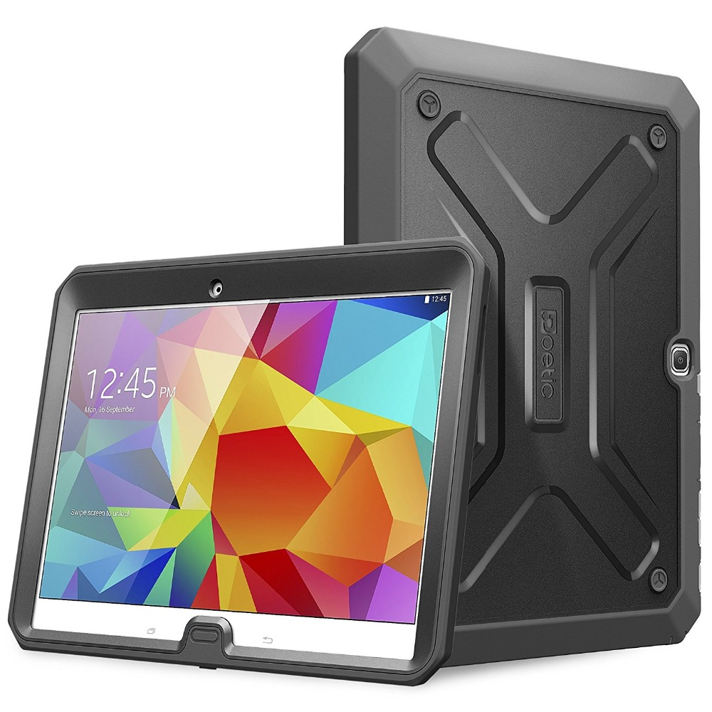 For Samsung Galaxy Tab 4 10.1 - Joylink Heavy Duty Dual Layer Complete Protection Hybrid Case with Built-In Screen Protector