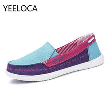 YEELOCA Women Canvas shoes Woman Ladies Casual shoes Lady loafers Women's Flats Slip On Shoes tenis feminino zapatos de mujer