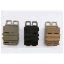 The Double Magazine Pouch MOLLE Tactical Airsoft Fast MAG Ammo Clip Bag / 5.56 mm Military M4 Hunting Accessories