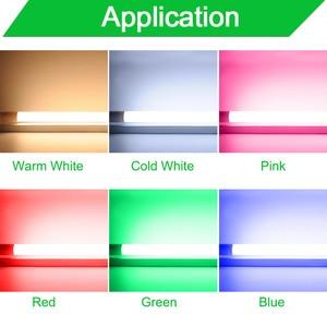 Image 2 - 360 Degree Bright LED Tube T8 Light AC220v 110v 60cm 600mm 10w LED T8 Integrated Driver Fluorescent Lamp Bulb T8 Cold Warm White