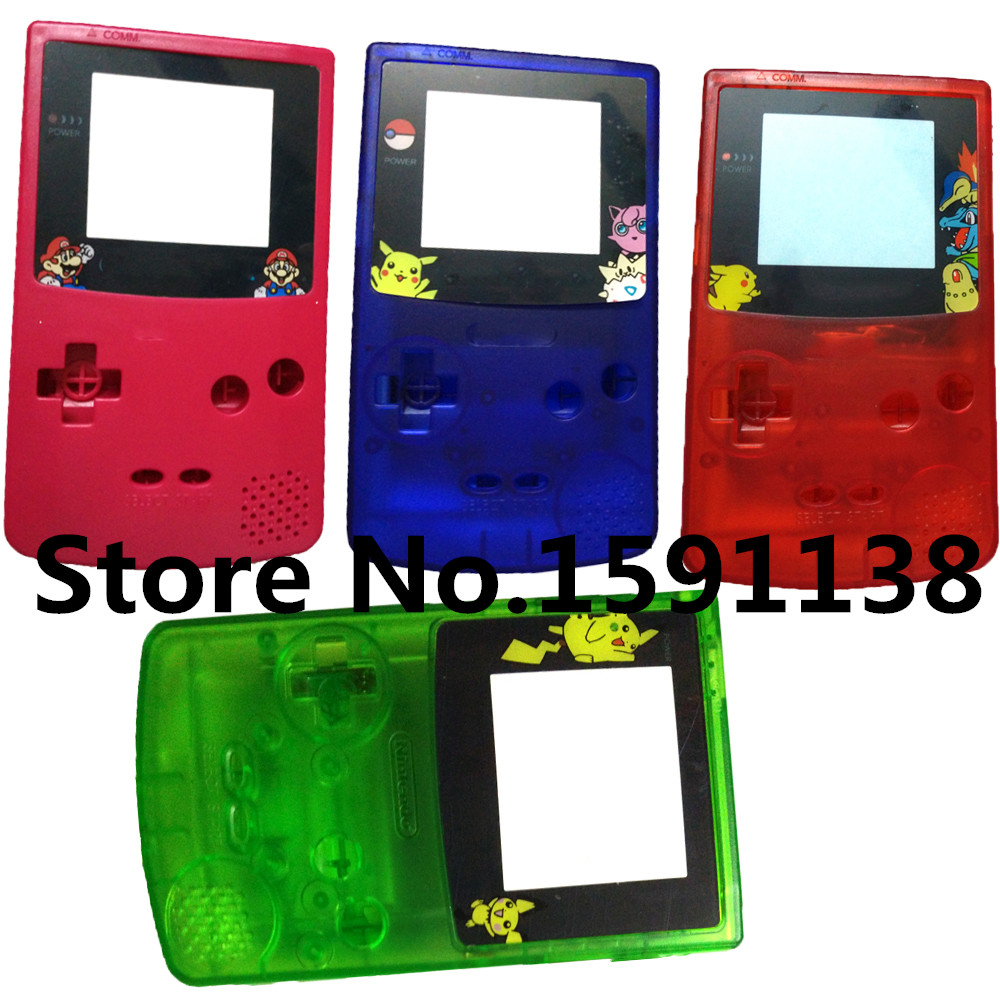 Game boy color online free - Hot Sale 2pcs Lot Multi Color For Cartoon Limited Edition Housing Shell For Nintendo
