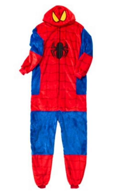 Spider man flannel home animated cartoon animal in the pajamas of cute long sleeve mens pajamas