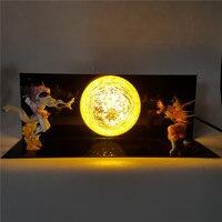 Dragon Ball Z Son Goku VS Freeza Toy Action Figure Kaiouken DIY Led Light Table Lamp Anime Dragon Ball Lampara Goku DBZ Model