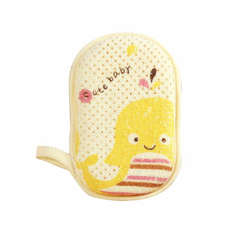 תינוק אמבטיה ספוג תינוק ליפה חמוד קיד ילדי Newbron תינוקות מקלחת מוצר לשפשף מגבת כדור רך תינוק אמבט ספוג אבקה פאף