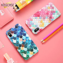 KISSCASE Colored Rhombic Cases For iPhone  5 5s SE Cover Ultra Slim Smooth Feeling Phone Cases For iPhone X XS MAX XR 5 5s Funda пластиковая накладка ultra thin air series для iphone 5 5s se пленка белый smooth white sgp09505