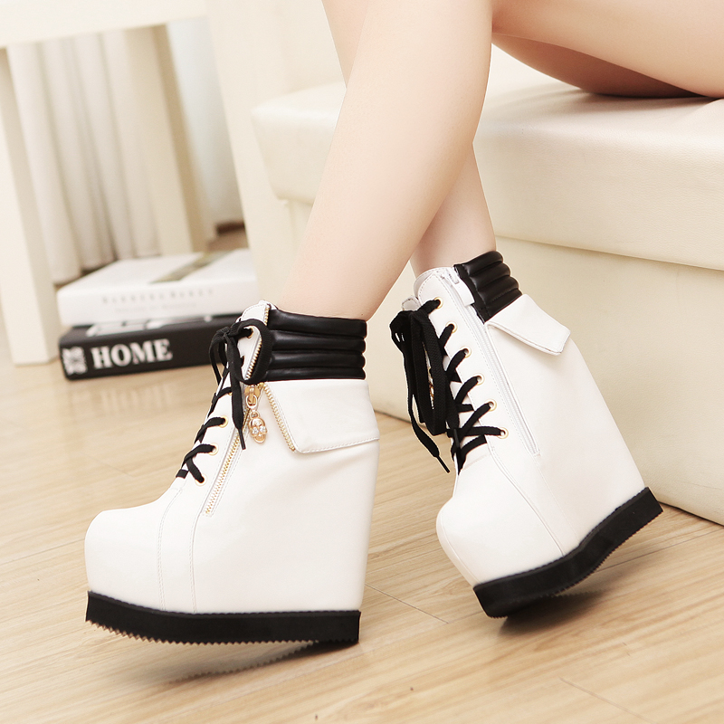 Wedge heel sneakers styles Korean fashion style shoes