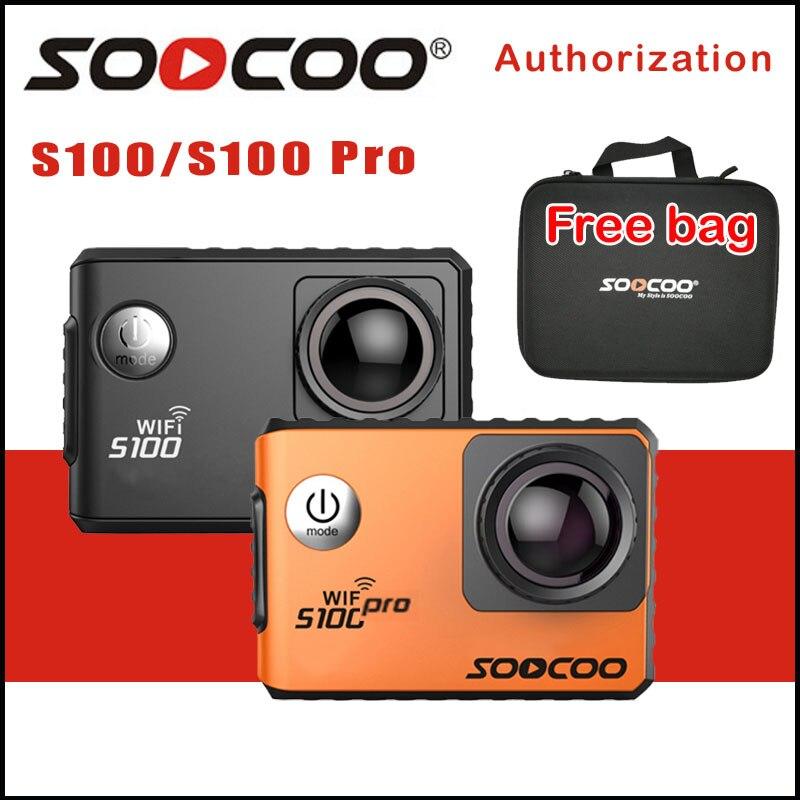 Caméra d'action 4 K fucoo S100/S100PRO Wifi NTK96660 20MP 30 M caméra de sport étanche Option GPS Gyro stabilisation d'image