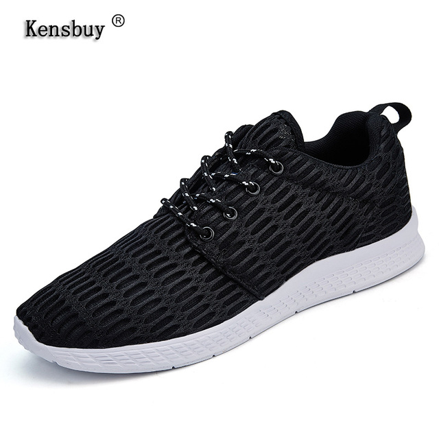 5490a859301 Kensbuy Men s Running Shoes Breathable Easy Run Air Mesh Sneakers Outsole Footwear  Soft Sports Shoes For Summer Plus Size 48