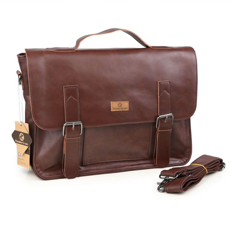 ФОТО Men's Casual Shoulder Bags Male Business Briefcase PU Leather Messenger Bag for 14 inch Computer Laptop Handbag