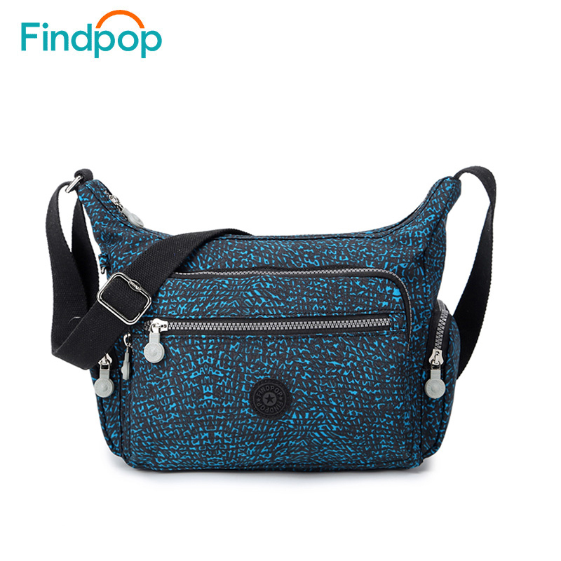 Findpop Casual Shoulder Bags For Women 2018 New Fashion Nylon Crossbody Bags For Women Waterproof Floral Printing Crossbody Bags