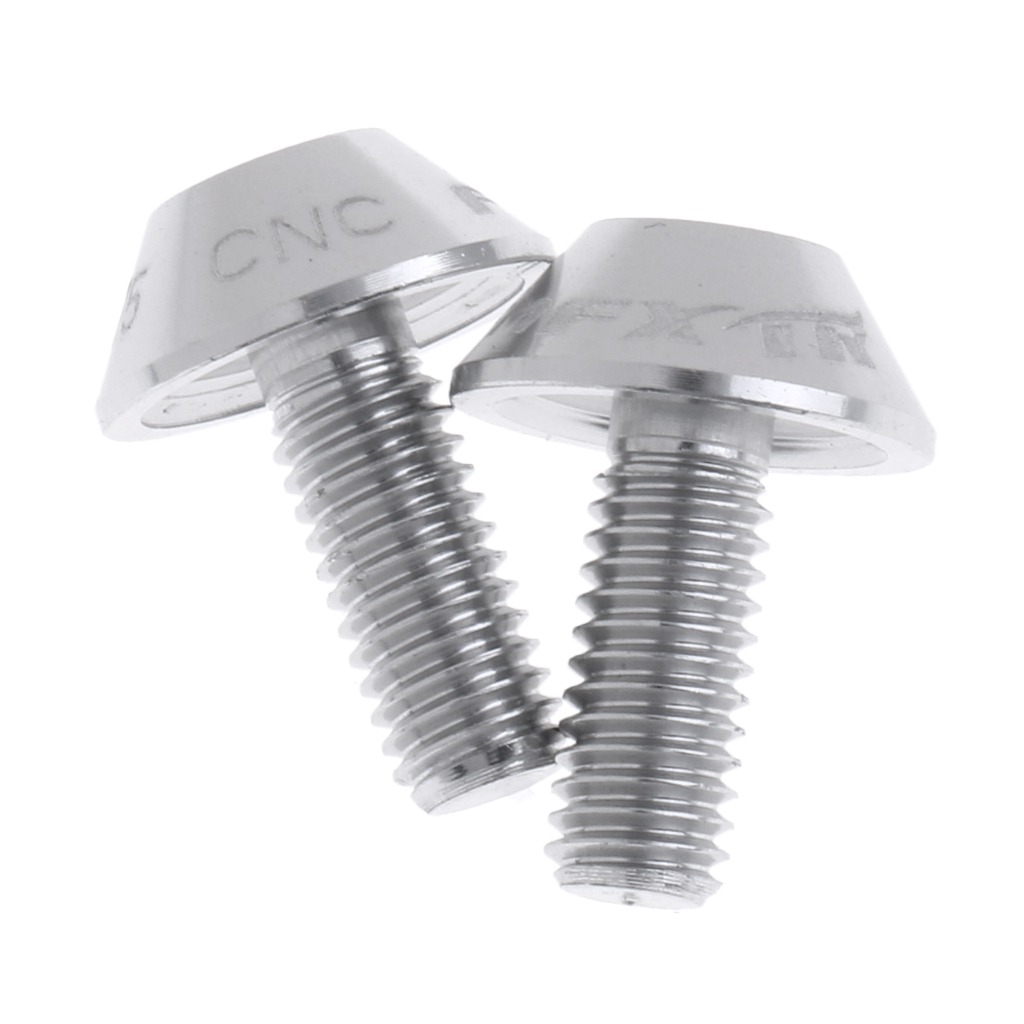 Perfeclan 2 Pcs M5 x 12mm CNC Aluminum Alloy Bike Bicycle Water Bottle Cage Bolt Holder Screws Bicycle Accessories in Bicycle Water Bottle from Sports Entertainment