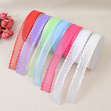 New Ribbon DIY Decorative Material Accessories Solid Color Nail Lace Embossed Transparent Clothing Bag