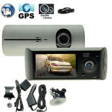 Двойной Камера Видеорегистраторы для автомобилей R300 с GPS и 3D G-Сенсор 2.7 «TFT ЖК-дисплей X3000 FHD 1080 P Cam видеокамера цикл Запись