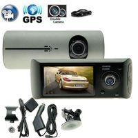 Dual Camera Car DVR R300 With GPS And 3D G Sensor 2 7 TFT LCD X3000