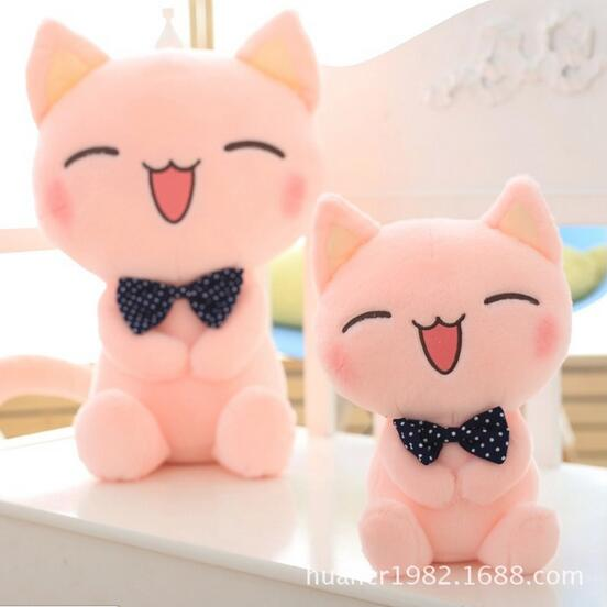 45cm Cute cat plush toy tie cat big face cat doll stuffed animal doll birthday gift stuffed animal 44 cm plush standing cow toy simulation dairy cattle doll great gift w501