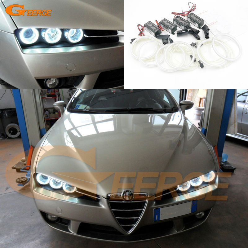 For Alfa Romeo 159 2005 2006 2007 2008 2009 2010 2011 Excellent Ultra bright illumination CCFL Angel Eyes kit Halo Ring for honda odyssey 4th g rb3 rb4 chassis 2008 present excellent ultrabright headlight illumination ccfl angel eyes kit halo ring