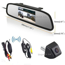 HD Wyświetlacz LCD Samochód Lusterko wsteczne Monitor Wideo Auto 4.3 Cal + 170 Stopni CCD Wspomagania Parkowania Backup Widok Z Tyłu Kamery Cofania