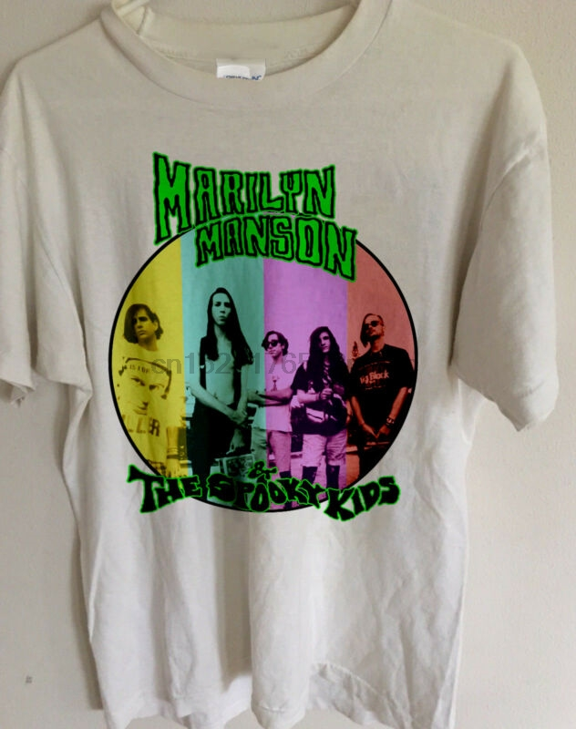 RARE Marilyn Manson And The Spooky Kids 90s T Shirt Spooky  Repro