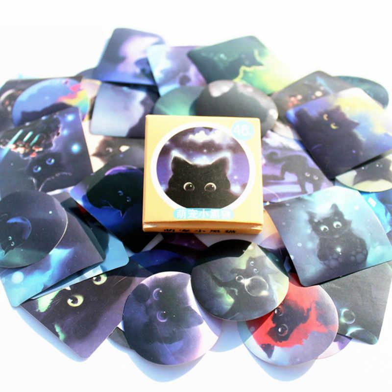 40 ピース/パック夜の黒猫古典的なかわいいスタイル落書きステッカーモト車 & スーツケースステッカーのスケートボードステッカー