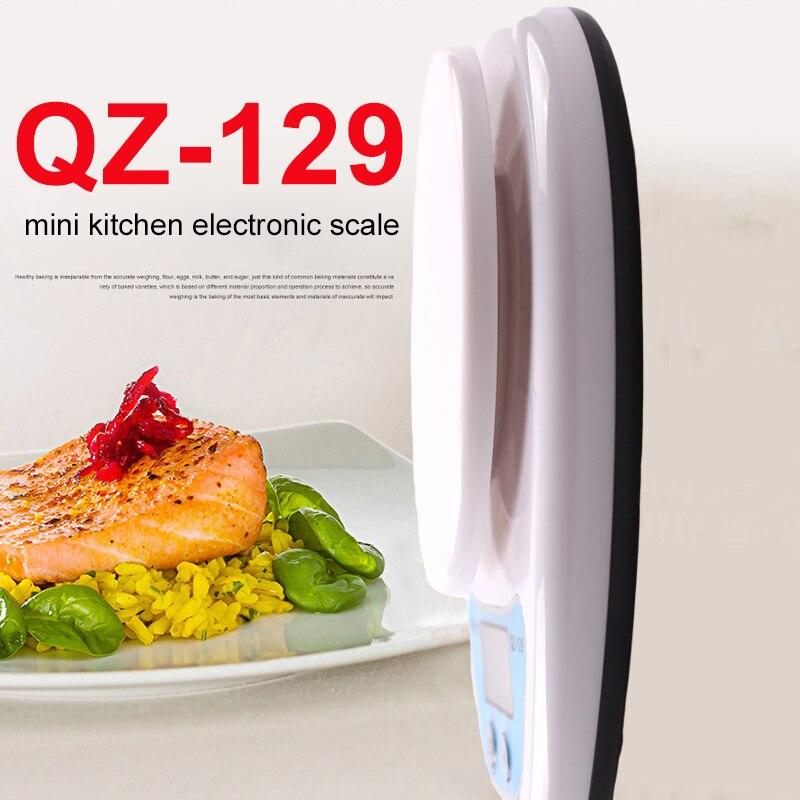 Mini Electronic Scale Digital Scale 5kg 1g Practical Kitchen Scale ABS QZ-129 Bar Portable