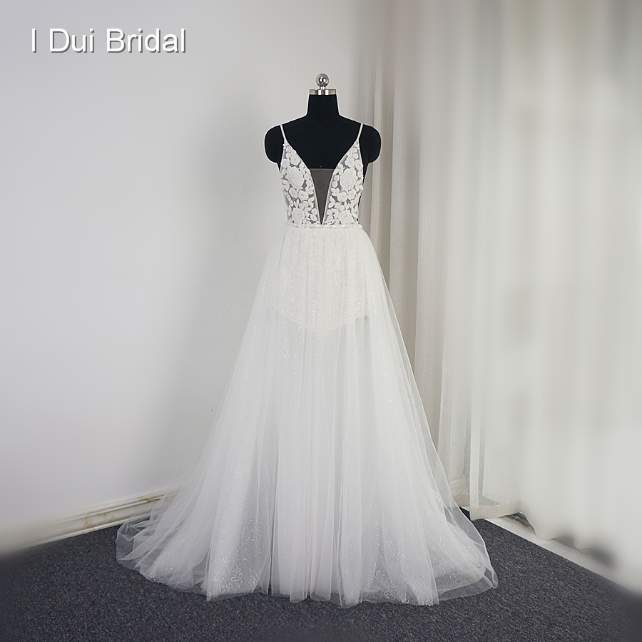 Sexy backless beach wedding dress sequin layer illusion skirt sexy backless beach wedding dress sequin layer illusion skirt light fairy bridal gown in wedding dresses from weddings events on aliexpress alibaba junglespirit Image collections