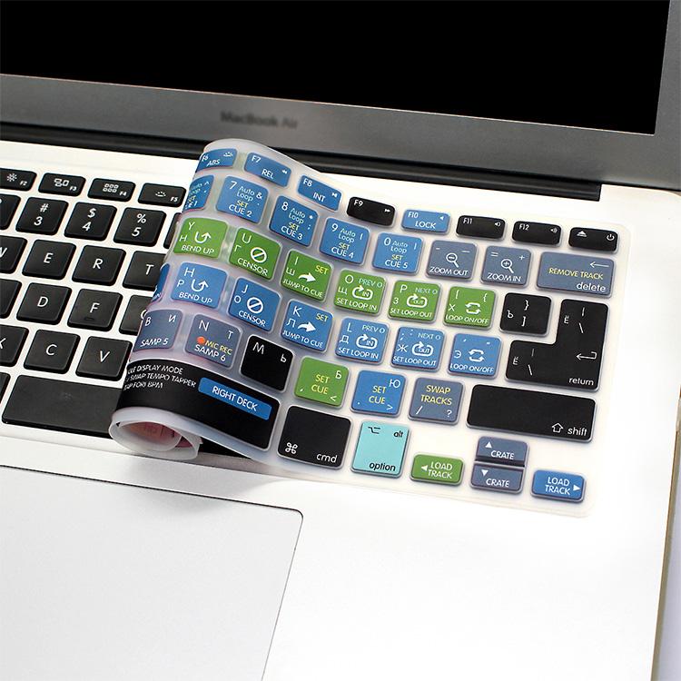 HRH Serato DJ Russian Functional Hot Keys Silicone Keyboard Cover Skin For  MacBook Air Pro Retina 1315EU/US Keyboard Protector Computer Keyboard Dust