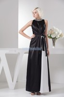 Envío gratis corto vestidos formales criada de las novias caliente blanco y negro crystal sexy vestidos de noche de la madre de la novia de tamaño Personalizado vestido