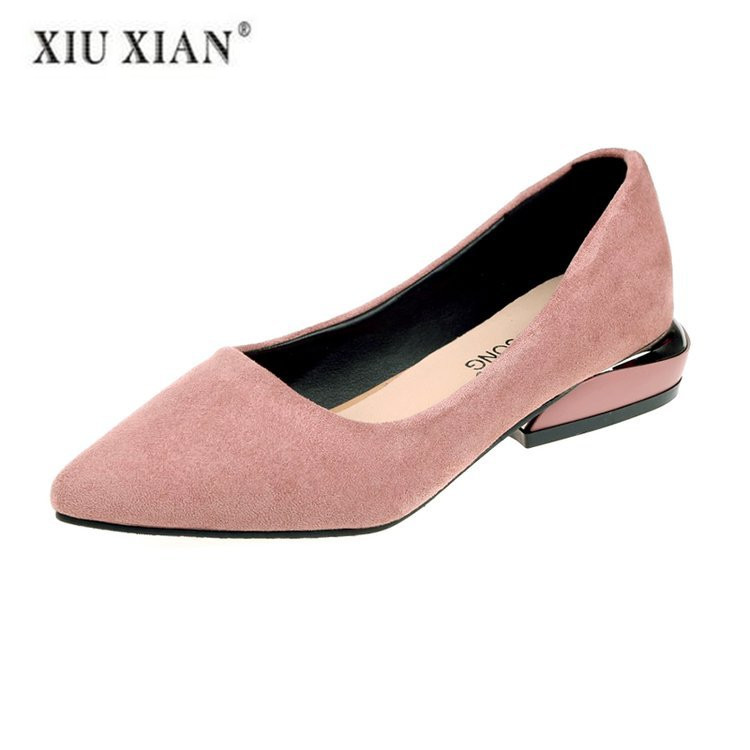 2018 Autumn Luxury Shoes Women Designers Flat Shoes Fashion Comfortable Pointed Toe  Winter Flock Casual Women Flats Basic2018 Autumn Luxury Shoes Women Designers Flat Shoes Fashion Comfortable Pointed Toe  Winter Flock Casual Women Flats Basic