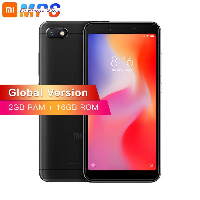 Mondial Version Xiaomi Redmi 6A 2 GB RAM 16 GB ROM A22 Redmi 6A téléphone portable 13.0 MP + 5.0MP Double caméra 3000 mAh 5.45 pouces