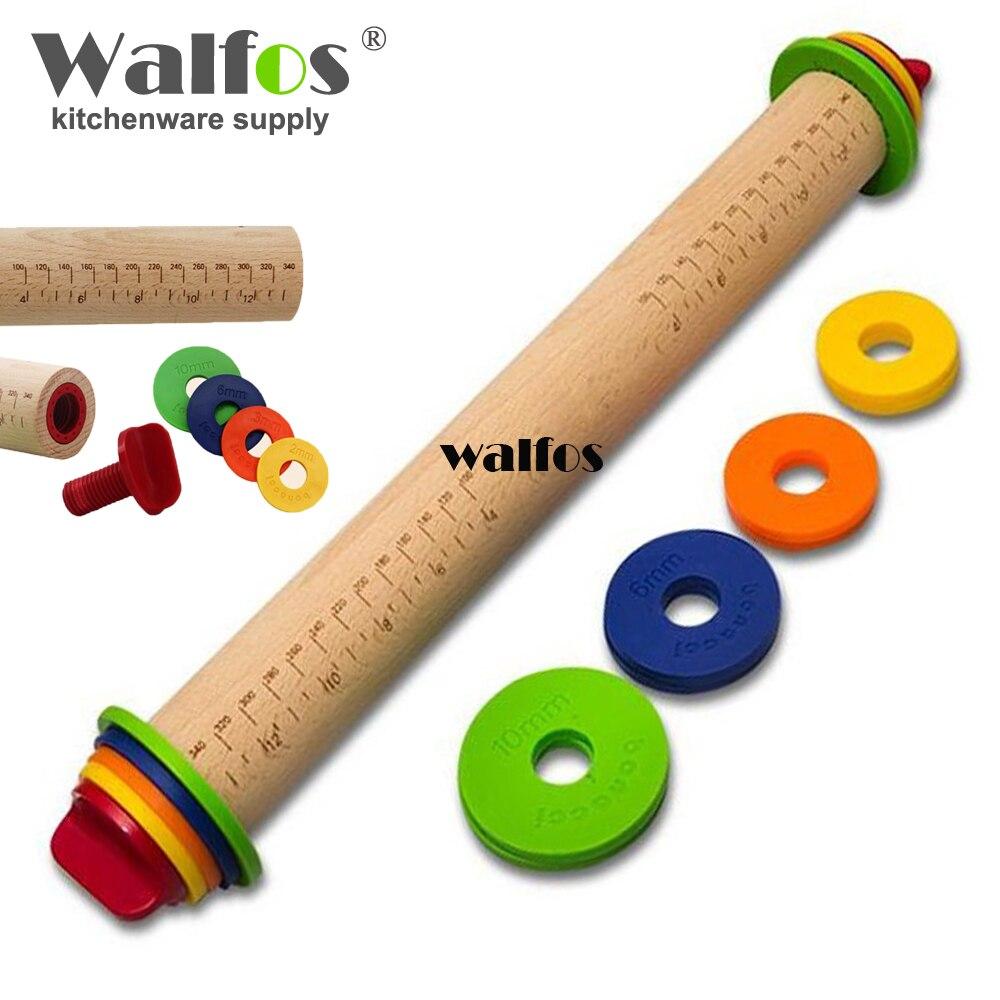 WALFOS 2017 nová kvalita DIY kuchyně Rolling Pin Fondant Paste Cake Roller Cake Bakeware Tool-dřevěný váleček