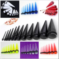 Acrylic Taper Spike Ear Stretcher Expander Plug Flesh Body Piercing Punk 1 Set 2-20mm