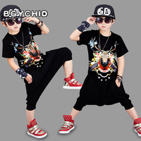 Summer Kids Shorts Suits Hip Hop Clothing Sports Suit Boy 2pcs Suit Outfits Teenage Clothes Children