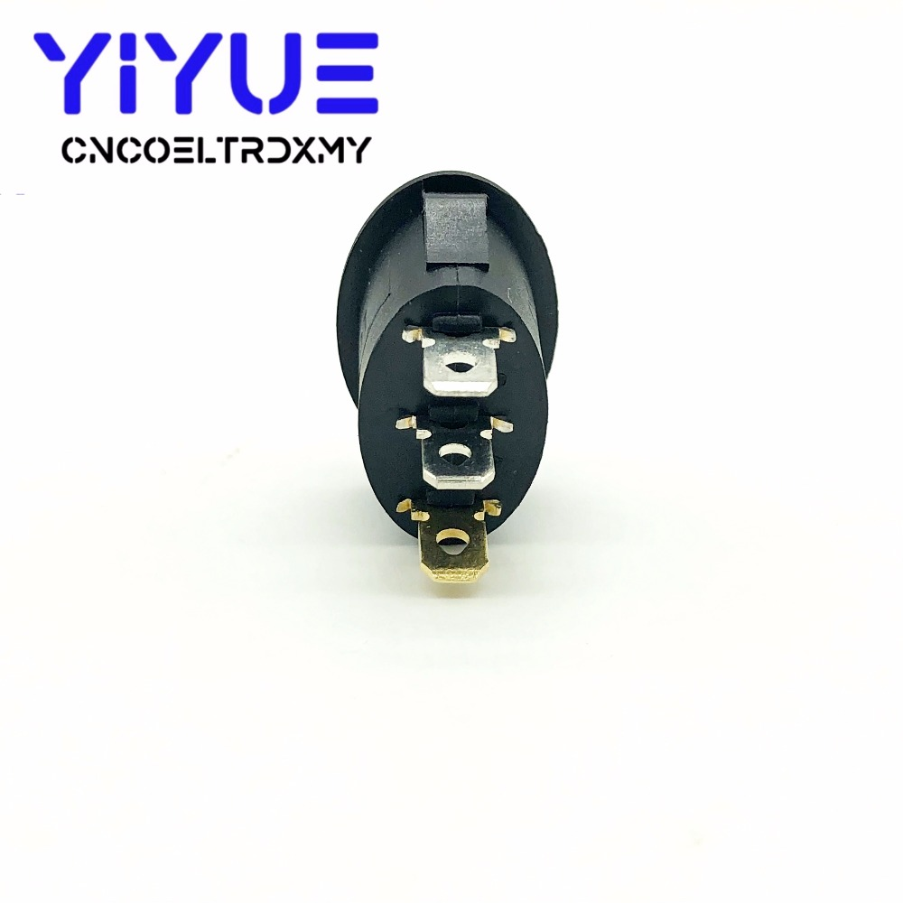 5Pcs Rocker Switch Ellipse Red With lamp KCD1 3Pin two position Seesaw Power switch  6A250VAC 10A125VAC (6)