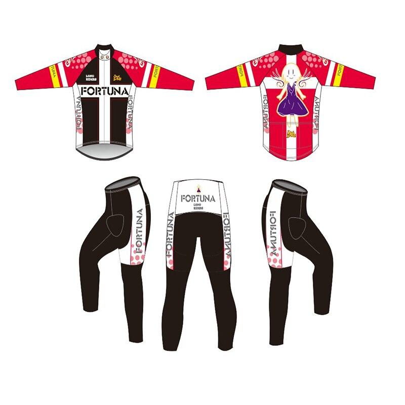 CUSROO Hatsune Miku LONG <font><b>sets</b></font> cycling jersey custom made Ropa Ciclismo short Outdoor Sports jersey Polyester Racing jersey