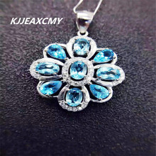 KJJEAXCMY boutique jewelry, Natural Topaz Pendant 925 Sterling Silver silver jewelry lady