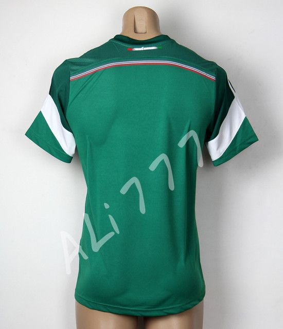 New Products 13 2014 World Cup Mexico National Team Soccer Uniforms Best  Thai Player Version Men Green Jerseys   Stamping Logo c40c25447