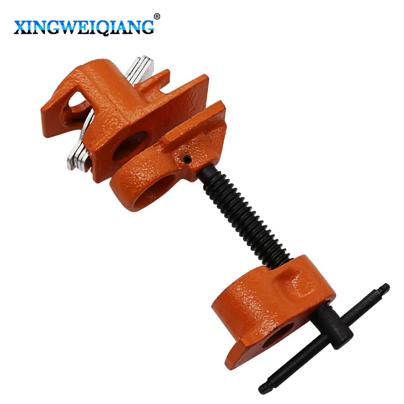 XINGWEIANG Heavy Duty German Style Rockler Type 1/2 Inch Pipe Clamp Fixture Carpenter цена