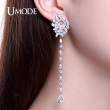 UMODE Brand Crystal Mismatched Brinco Cuff Earrings For Women 2017 White Gold Color CZ Crystal Stud Earrings Gift Brinco AUE0219