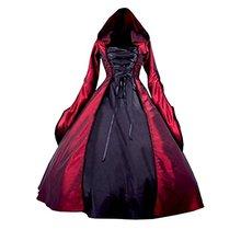 цена Women's Gothic Victorian Long Sleeves Hooded Lolita Witch Costumes онлайн в 2017 году