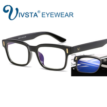 IVSTA anti blue rays computer Glasses Men Blue Light Coating Gaming Glasses for computer protection eye Retro Spectacles 8084 V
