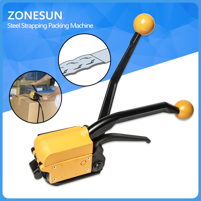 ZONESUN High Quality! A333 Manual Seallesspp Steel Straing Packing Tool,Steel Strapping Bander,Metal Strip Machine For 13-19mm  цены