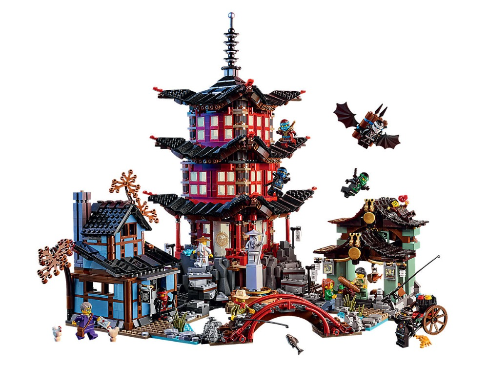 Lepin Ninjagoe Movie 2150pcs Building Blocks toys for Children Bricks Temple of Airjitzu gifts Compatible Legoe Ninjagoe 70751 compatible ninja 70751 lepin 06022 2150pcs blocks ninja figure temple of airjitzu toys for children building bricks 70603 gifts