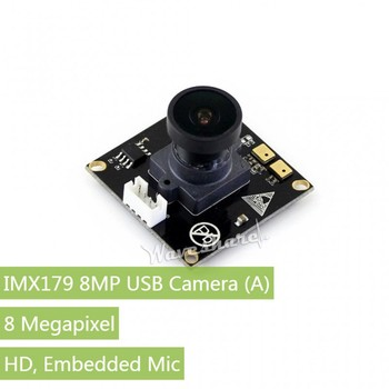 IMX179 8MP USB Camera, Ultra High Definition, Embedded Mic, Driver-Free