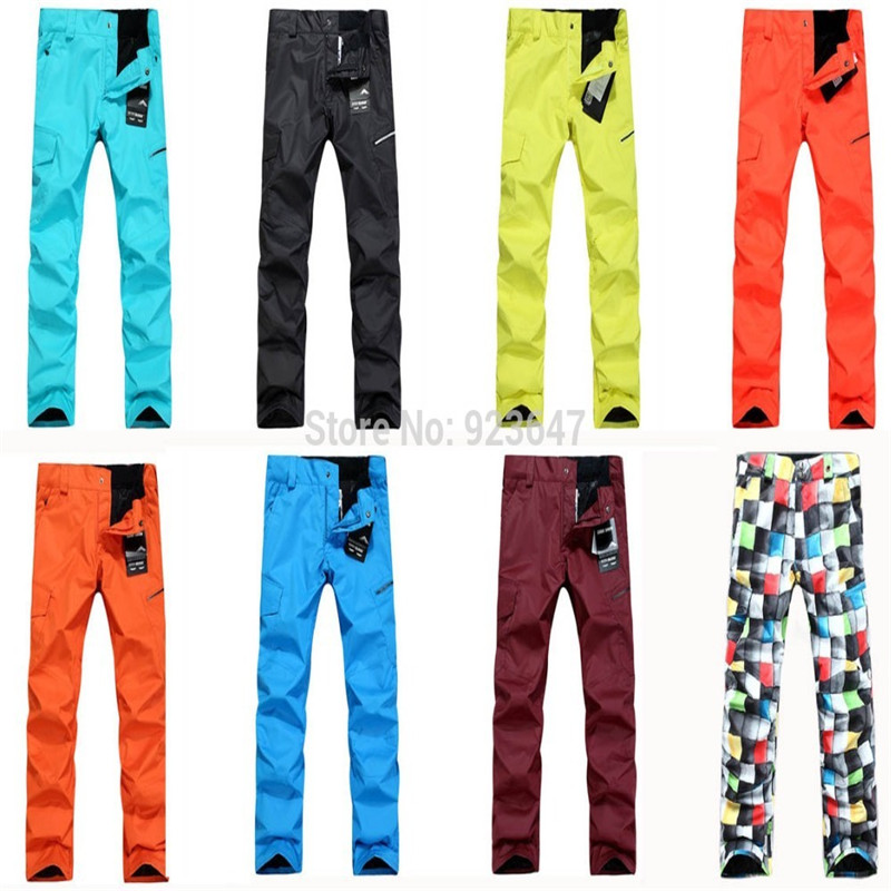ФОТО Free shipping High quality Gsou snow Men skiing pants outdoor cycling hiking waterproof & windproof thermal trouseres for men