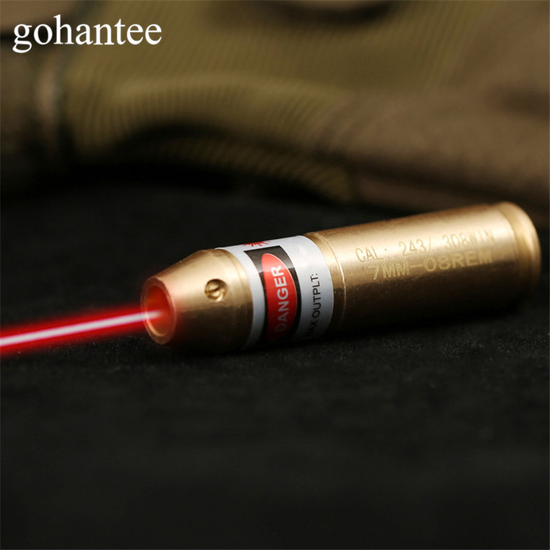 Gohantee Caccia Boresighter Tactical Cal. 308. 243 Cartuccia Red Dot Laser Boresighter Fucili/Pistola 308 243 Calibro Bore Sighter