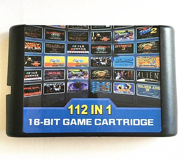 112 en 1 cartouche de jeu 16 bits carte de jeu pour Sega Mega Drive MD pour Megadrive pour Genesis console