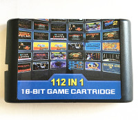 112 In 1 Game Cartridge 16 Bit Game Card For Sega Mega Drive MD For Megadrive