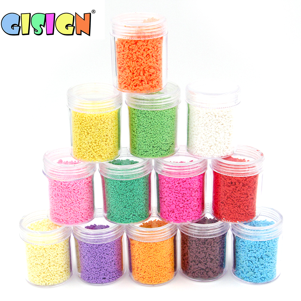 Fake Sprinkles Addition For Slime Supplies Accessories DIY Cake Dessert Beads For Soft Clay Fluffy Slime Plasticine Mud Toys Kit