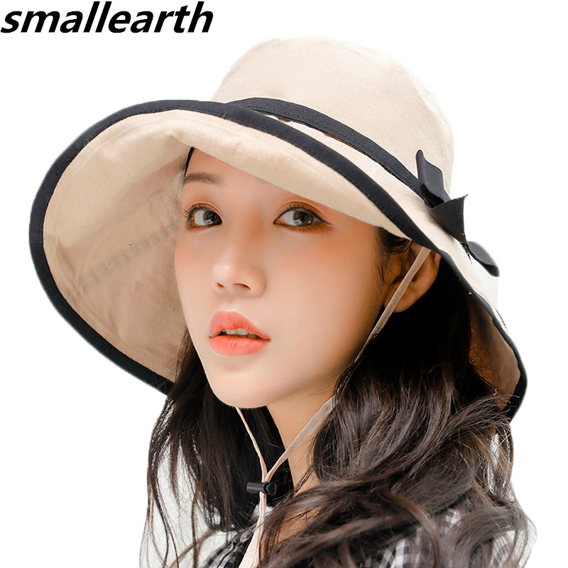 f35e62d7e US $7.46 17% OFF|Female Summer Sun Hat New Fashion Spring Foldable Wide  Large Brim Women Casual Sun Hats Girls Outdoor Travel Sunscreen Beach  Hat-in ...